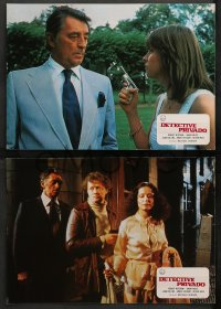 4m0023 BIG SLEEP 11 Spanish LCs 1978 different images of Robert Mitchum & sexy Candy Clark!