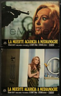 4m0011 DEATH WALKS AT MIDNIGHT 12 Spanish LCs 1973 Luciano Ercoli's La Morte Accarezza a Mezzanotte!
