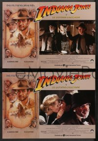 4m0021 INDIANA JONES & THE LAST CRUSADE 12 Spanish LCs 1989 Harrison Ford, Sean Connery, Struzan art!