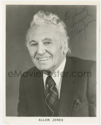 4p0490 ALLAN JONES signed 8x10 publicity still 1970s head & shoulders portrait later in his career!