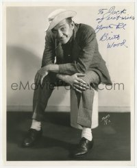 4p0491 BRITT WOOD signed 8x10 publicity still 1940s full-length seated portrait of the actor by Bert's!
