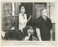 4p0346 CHARLES DURNING signed 8x10 still 1980 with Katharine Ross & dog in The Final Countdown!