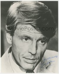 4p0565 EDWARD FOX signed 8x10 REPRO still 1980s great head & shoulders portrait of the English star!