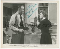 4p0375 IRENE DUNNE signed 8x10 still 1952 close up with Dean Jagger in It Grows on Trees!