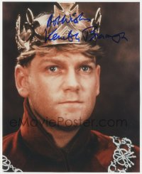 4p0527 KENNETH BRANAGH signed color 8x10 REPRO still 2000s c/u of the Irish actor/director as Henry V!