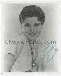 4p0594 LINA BASQUETTE signed 8x10 REPRO still 1980s smiling portrait when she made Hello Trouble!