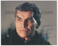 4p0533 MARK LENARD signed color 8x10 REPRO still 1990s Sarek in Star Trek III: The Search for Spock!