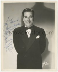 4p0499 NICK LUCAS signed 8x10.25 publicity still 1943 portrait of the jazz musician in tuxedo by Bloom!
