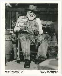 4p0501 PAUL HARPER signed 8x10 publicity still 1980s Miller Icehouse portrait in rocking chair!