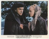 4p0319 PAUL SCOFIELD signed color 8x10 still 1966 with Susannah York in A Man for All Seasons!