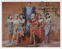 4p0541 SUZANNA LEIGH signed color 8x10 REPRO still 1998 with Elvis & cast in Paradise Hawaiian Style!
