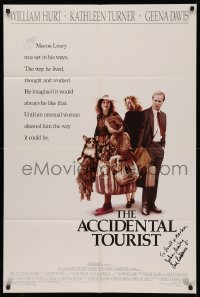 4p0036 ACCIDENTAL TOURIST signed 1sh 1988 by BOTH John Bailey AND Carol Littleton, Lawrence Kasdan!