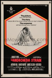 4p0038 ANDROMEDA STRAIN signed 1sh 1971 by director Robert Wise, from the Michael Crichton novel!
