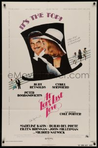 4p0041 AT LONG LAST LOVE signed 1sh 1975 by Peter Bogdanovich, c/u of Burt Reynolds & Cybill Shepherd