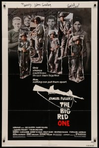 4p0043 BIG RED ONE signed 1sh 1980 by Robert Carradine, Mark Hamill, Perry Lang, Greenberg & 1 more!