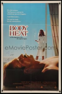 4p0046 BODY HEAT signed 1sh 1981 by BOTH director Lawrence Kasdan AND film editor Carol Littleton