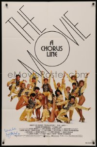 4p0051 CHORUS LINE signed 1sh 1985 by director Richard Attenborough, New York City Broadway group!