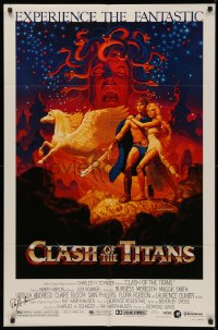 4p0052 CLASH OF THE TITANS signed 1sh 1981 by Ray Harryhausen, Greg & Tim Hildebrandt fantasy art!