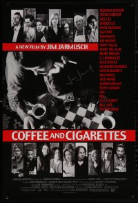 4p0006 COFFEE & CIGARETTES signed 1sh 2003 by director Jim Jarmusch, portraits of 16 cast members!
