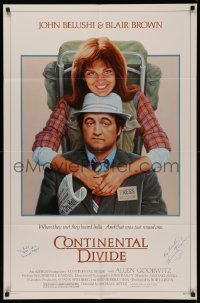 4p0056 CONTINENTAL DIVIDE signed 1sh 1981 by BOTH Michael Apted AND Lawrence Kasdan, Lettick art!