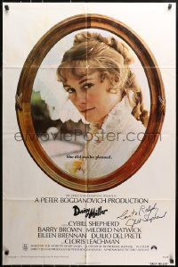 4p0058 DAISY MILLER signed 1sh 1974 by Cybill Shepherd, directed by Peter Bogdanovich!