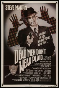 4p0060 DEAD MEN DON'T WEAR PLAID signed 1sh 1982 by director Carl Reiner, great c/u of Steve Martin!