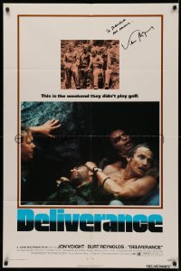 4p0061 DELIVERANCE signed 1sh 1972 by cinematographer Vilmos Zsigmond, John boorman classic!