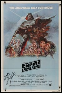 4p0066 EMPIRE STRIKES BACK signed style B NSS style 1sh 1980 by director Irvin Kershner, Tom Jung art