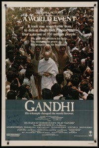 4p0073 GANDHI signed int'l 1sh 1982 by Best Director winner Richard Attenborough, Ben Kingsley!