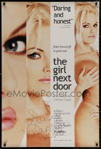 4p0007 GIRL NEXT DOOR signed 26x39 1sh 1999 by Stacy Valentine, from housewife to porn star!