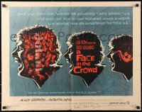 4p0026 FACE IN THE CROWD signed 1/2sh 1957 by writer Budd Schulberg, great image of Andy Griffith!