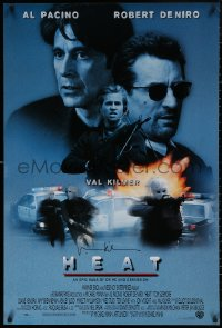 4p0008 HEAT signed int'l 1sh 1996 by Val Kilmer, great image with Al Pacino & Robert De Niro!