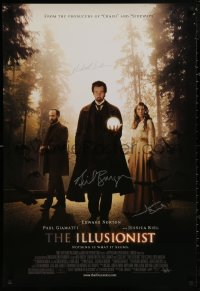 4p0009 ILLUSIONIST signed 1sh 2008 by Jessica Biel, Michael London AND director Neil Burger!