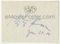 4p0467 MILOS FORMAN signed 4x6 index card 1986 it can be framed & displayed with a repro still!