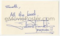 4p0478 RICHARD FRANKLIN signed 3x5 index card 1983 it can be framed & displayed with a repro still!