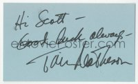 4p0486 TIM MATHESON signed 3x5 index card 1980s it can be framed & displayed with a repro still!