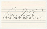 4p0487 TONY ROBERTS signed 3x5 index card 1980s it can be framed & displayed with a repro still!