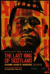 4p0010 LAST KING OF SCOTLAND signed teaser DS 1sh 2006 by Forest Whitaker, James McAvoy & FOUR more!