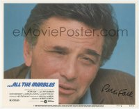 4p0147 ALL THE MARBLES signed LC #6 1982 by Peter Falk, super close head & shoulders portrait!