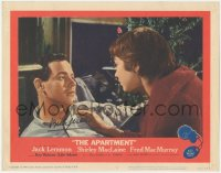 4p0148 APARTMENT signed LC #8 1960 by director Billy Wilder, c/u of Jack Lemmon & Shirley MacLaine!
