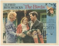 4p0150 BIRDS signed LC #5 1963 by BOTH Tippi Hedren AND Veronica Cartwright, Hitchcock classic!