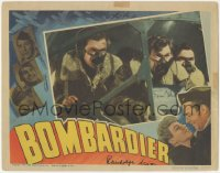 4p0152 BOMBARDIER signed LC 1943 by BOTH Randolph Scott AND Eddie Albert, intense cockpit scene!