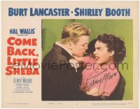 4p0156 COME BACK LITTLE SHEBA signed LC #2 1953 by Terry Moore, who's resisting Richard Jaeckel!