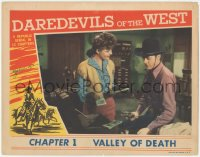 4p0157 DAREDEVILS OF THE WEST signed chapter 1 LC 1943 by Kay Aldridge, c/u with Allan Rocky Lane!