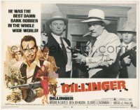 4p0159 DILLINGER signed LC #8 1973 by Ben Johnson, who's a gangster close up with tommy gun!