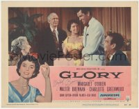 4p0167 GLORY signed LC #7 1956 by Margaret O'Brien, who's with Walter Brennan, Greenwood & others!