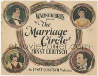 4p0145 MARRIAGE CIRCLE signed TC 1924 by Florence Vidor, Ernst Lubitsch's second U.S. movie, rare!