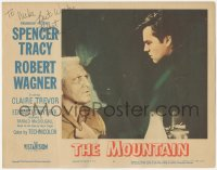 4p0173 MOUNTAIN signed LC #2 1956 by Robert Wagner, great close up threatening Spencer Tracy!