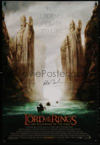 4p0011 LORD OF THE RINGS: THE FELLOWSHIP OF THE RING signed advance 1sh 2001 by Peter Jackson!