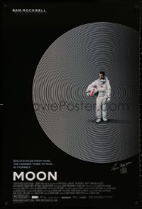 4p0015 MOON signed 1sh 2009 by director Duncan Jones, great image of lonely astronaut Sam Rockwell!